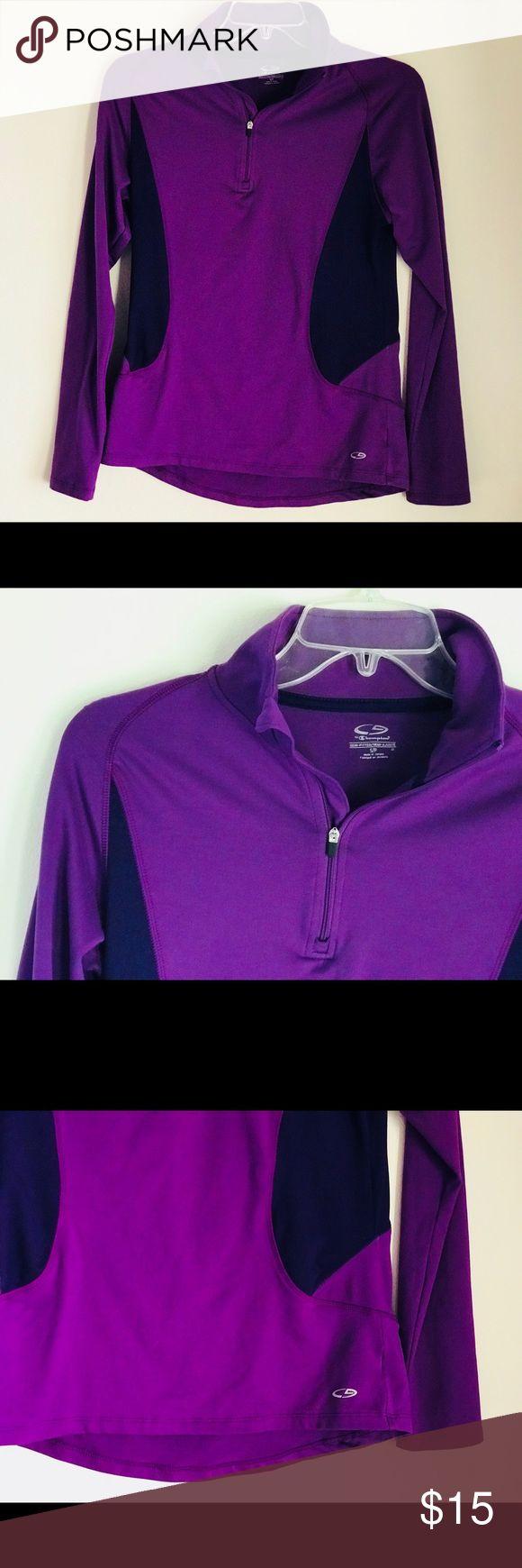 CHAMPION PURPLE SPANDEX PULLOVER Great condition Champion Tops Sweatshirts & Hoodies