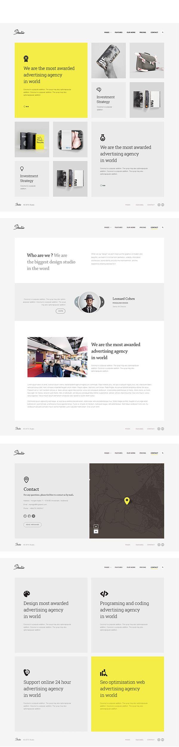 Studio Template [HTML5] on Web Design Served