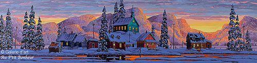 Vladimir Horik, 'L'heure magique', 20'' x 80'' | Galerie d'art - Au P'tit Bonheur - Art Gallery