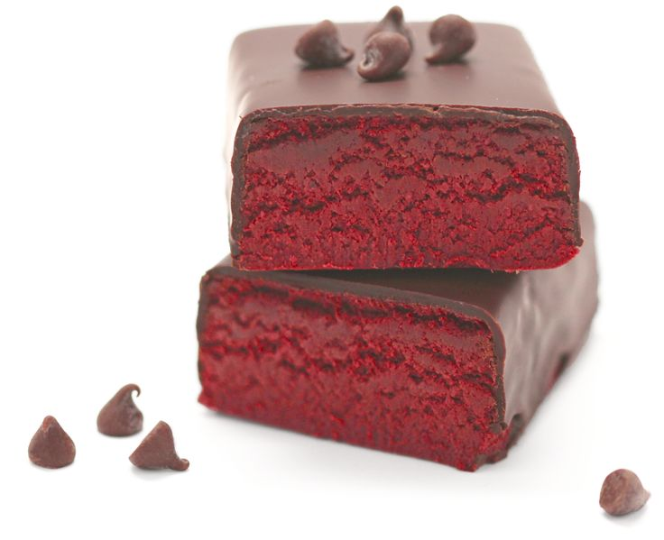 Healthy Red Velvet Cake Fudge Protein Bars from the #DIYProteinBars Cookbook! [no sugar added, high fiber, high protein, gluten free, dairy free, vegan] -- Each protein bar has 280 calories and 22g protein!