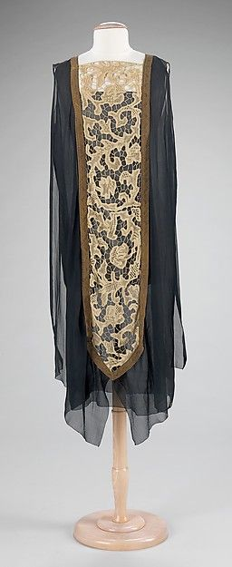 Evening overdress | probably French | 1920 | silk, linen, metal | Brooklyn Museum Costume Collection at The Metropolitan Museum of Art | Accession Number: 2009.300.1240