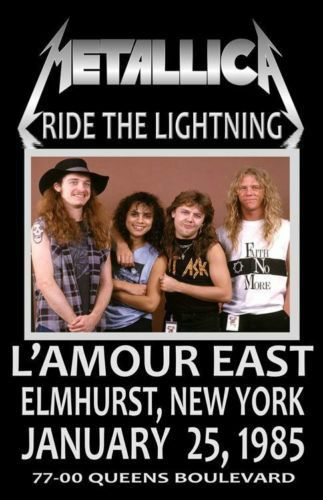 Metallica Concert Poster https://www.facebook.com/FromTheWaybackMachine/