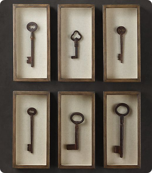 Key Shadow Box Collection From Restoration Hardware Decorating