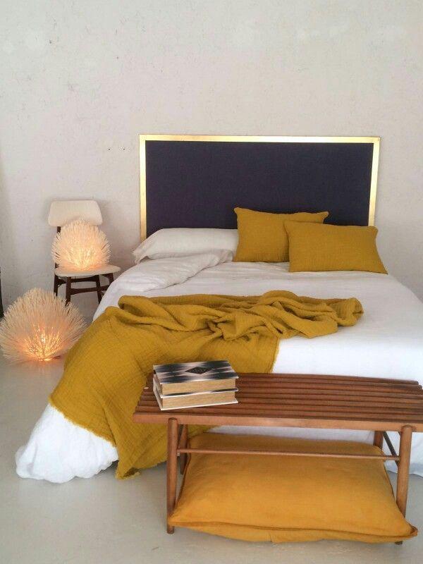 Cabecero dorado www.ruevintage74.com