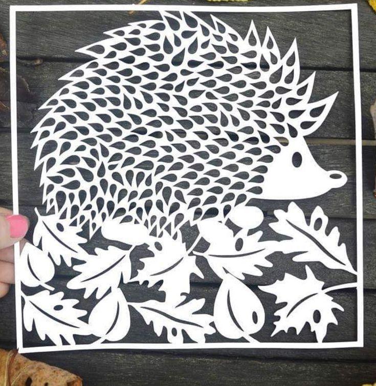 Вытынанка открытка осень, настоящей подруге
