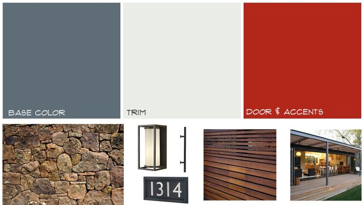Mid century home exterior mood board midcentury paint for Modern exterior colors