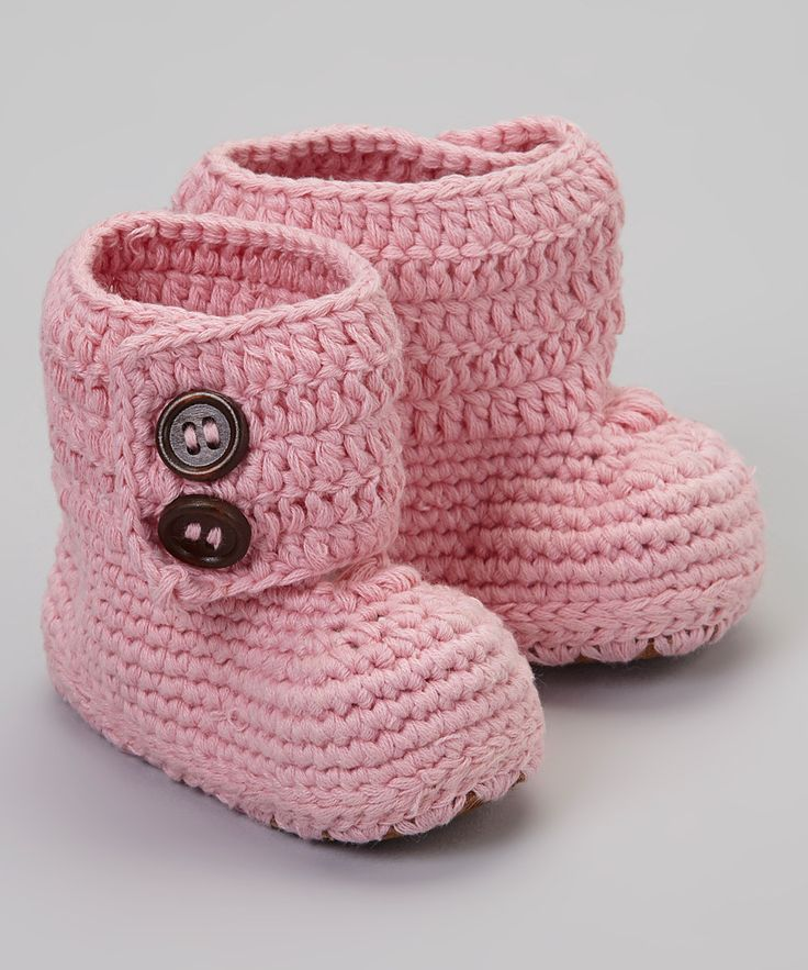 Take a look at this Knitoes & Co. Pink Knit Baby Boot on zulily today!