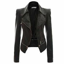 Женщины искусственная кожа куртки пальто 2015 Fahion женский мода тонкий 2 использование молния мотоцикл кожи омывается куртка пальто YL62(China (Mainland))