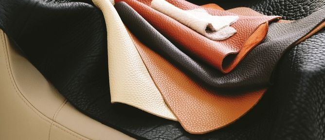 Some of King Furniture's wide variety of luxurious leathers
