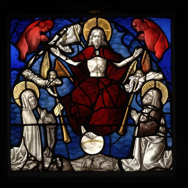 Last Judgement stained glass panel, Germany, ca. 1500-1510. l Victoria and Albert Museum #Christmas #AngelTrail