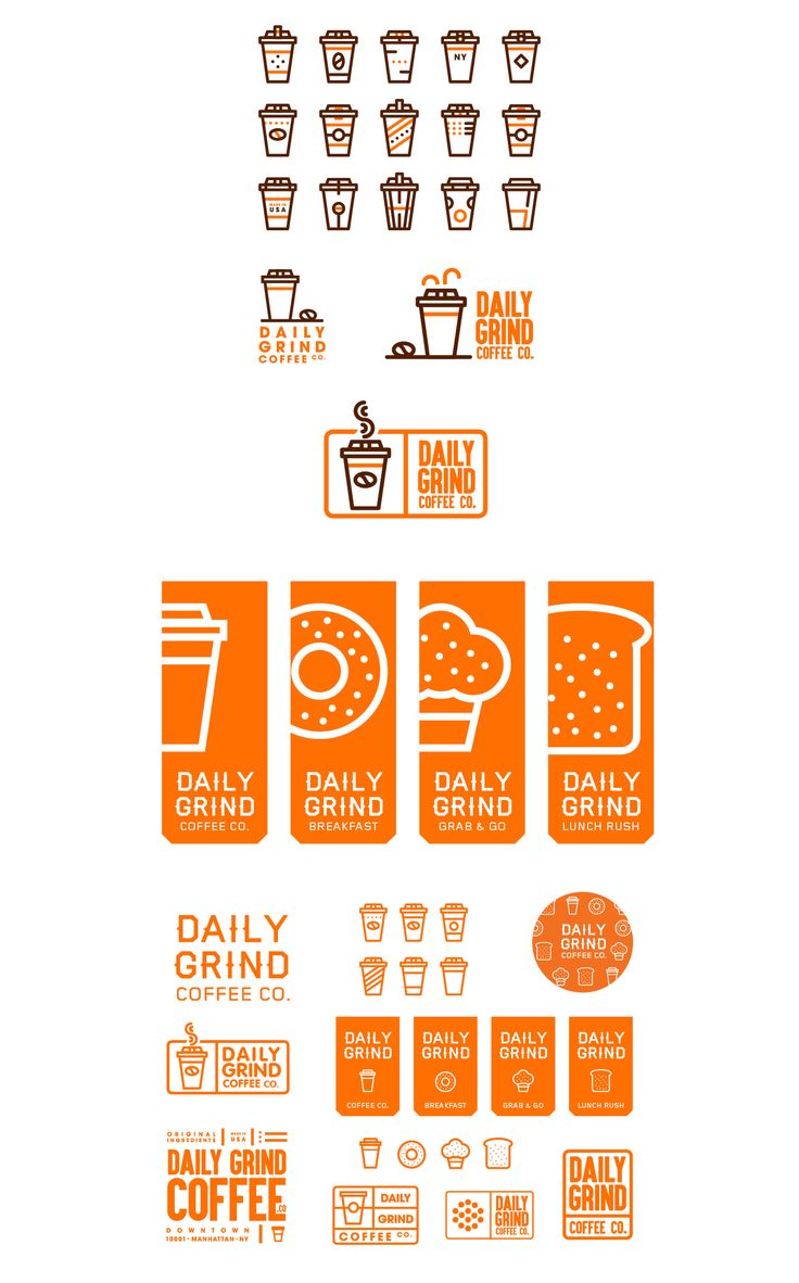 864 best logos images on pinterest logo designing logos and daily grind coffee co is a new york bred tech forward coffee purveyor kitchen logolower