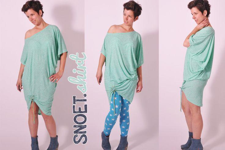 SNOET shirt • Nähanleitung + Schnittmuster • leni pepunkt • nähen • DIY easy • sewing pattern women • Damen • Longshirt •  Kleid • dress casual • ebook