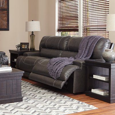 Signature Design by Ashley McCaskill 2 Seat Reclining Power Leather Sofa #RecliningSofa