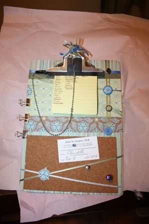 my altered clipboard by Cherith - Cards and Paper Crafts at Splitcoaststampers