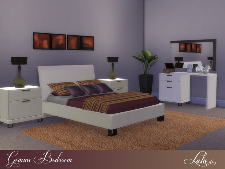 in a cream veneer   dark and light wood variations  soft colors for a  restful sleep Found in TSR Category  Sims 4 Adult Bedroom Sets. 63 best TS4 Room Sets   Bedrooms images on Pinterest   Bedrooms