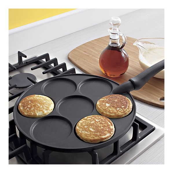 silver dollar pancake pan from crate & barrel