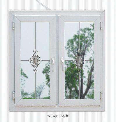 Moderno design da grade da janela de uPVC para caixilhos de janelas, Decoração de interiores de abertura do balanço estilo grades da janela
