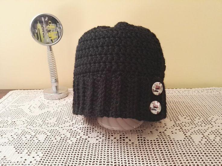 Cappello bottoni Londra, by Filo sull'uncinetto, 6,00 € su misshobby.com