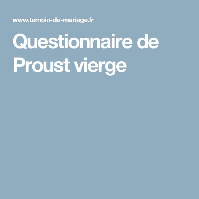 Questionnaire de Proust vierge