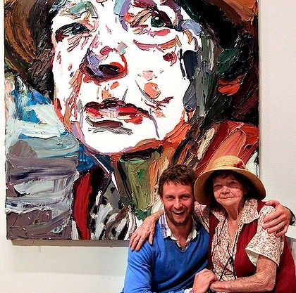 Archibald prize winner 2011 Ben Quilty with Margaret Olly, the subject of his portrait. Photo: Edwina Pickles (Australian artists)