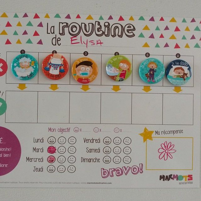 My Daily Routine Motivational Kit Routine Chart For Children Etsy Routine Chart Daily Routine Routine