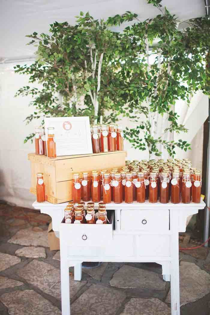 Handcrafted Apple Cider: Follow us on Instagram: @thebohemianwedding
