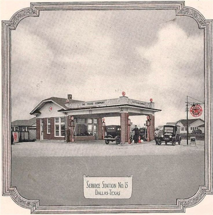 The Texas Company (No. 13), known as Texaco, this service station photo is believed to be from 1913.