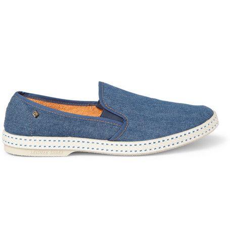 Rivieras Rubber-Soled Denim Slip-On Shoes | MR PORTER