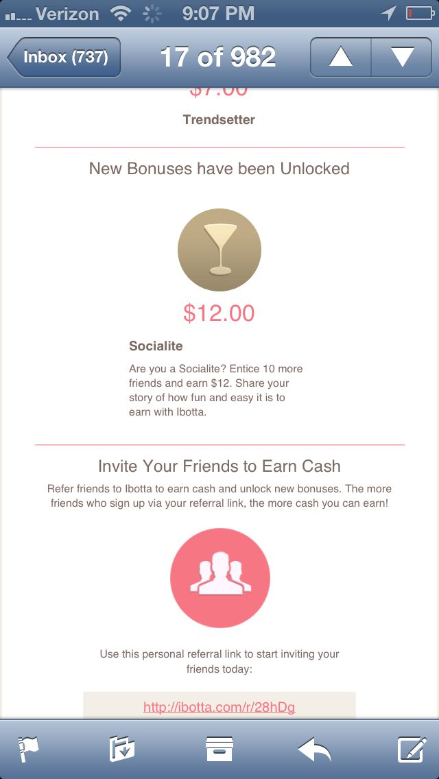 Earn $10 just for trying the Ibotta app. It pays you money for buying your favorite products. Once you try it, you'll be hooked! http://ibotta.com/r/5ugXcw