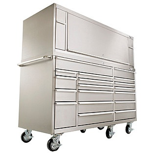 Viper Tool Storage PRO 72 Inch 2 Drawer 16G Steel Top Hutch, 304 Stainless  Steel   $1844.99 | Shop | Pinterest | Tool Storage, Drawers And Storage