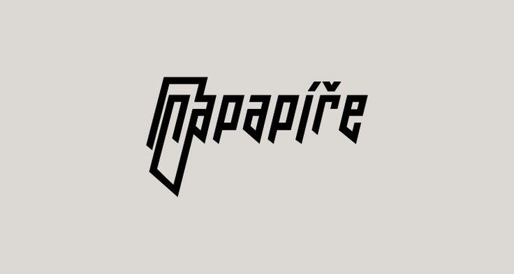 Na Papíře Rocková skupina, Louny Logotyp (2010) Rock group, Logotype