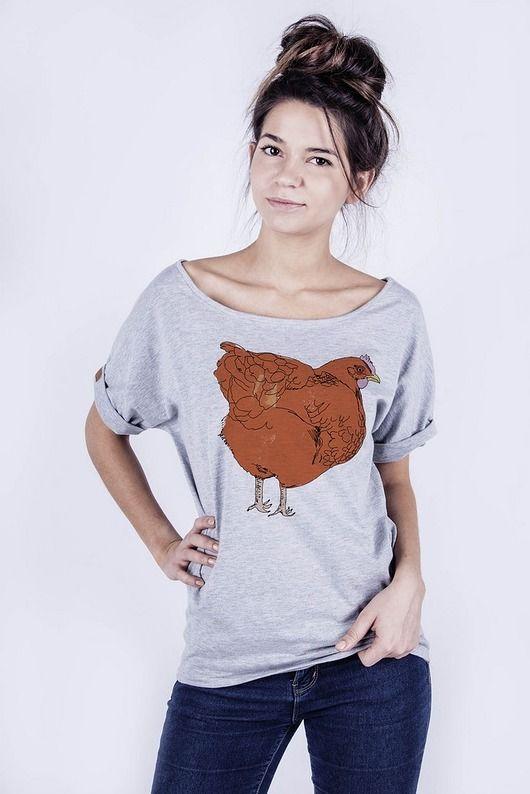 bluzki - t-shirty - damskie-T-shirt damski 'kura'