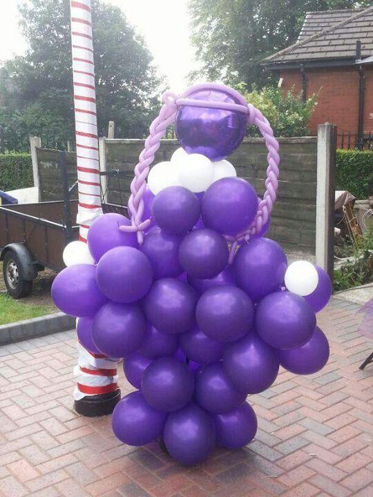 Violet Character Sculpture