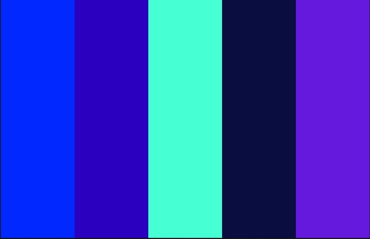 Color Scheme Mint Cobalt Blue Purple Navy New Apartment
