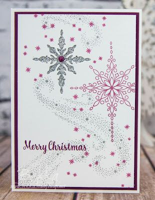 Stampin' Up! UK Feeling Crafty - Bekka Prideaux Stampin' Up! UK Independent Demonstrator: Star Of Light Recessed Star Christmas Card