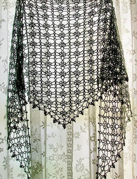 Beautiful Soft Lace  Shawl For Summer                              Pattern …