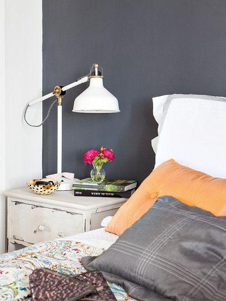 Muro con pintura gris plomo