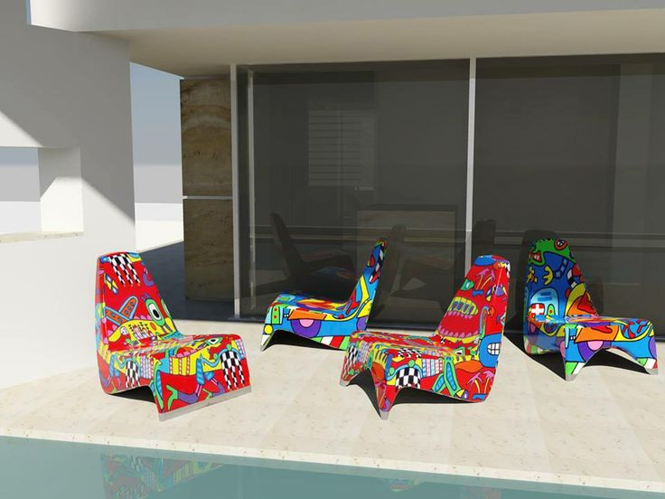 Chair with Ton Pret Art