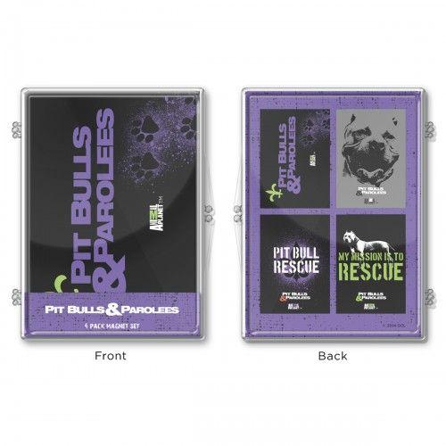 Pit Bulls & Parolees Rescue Magnet Set [Set of 4]