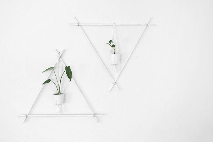 DIY wall decor with plants || Katarina Natalie