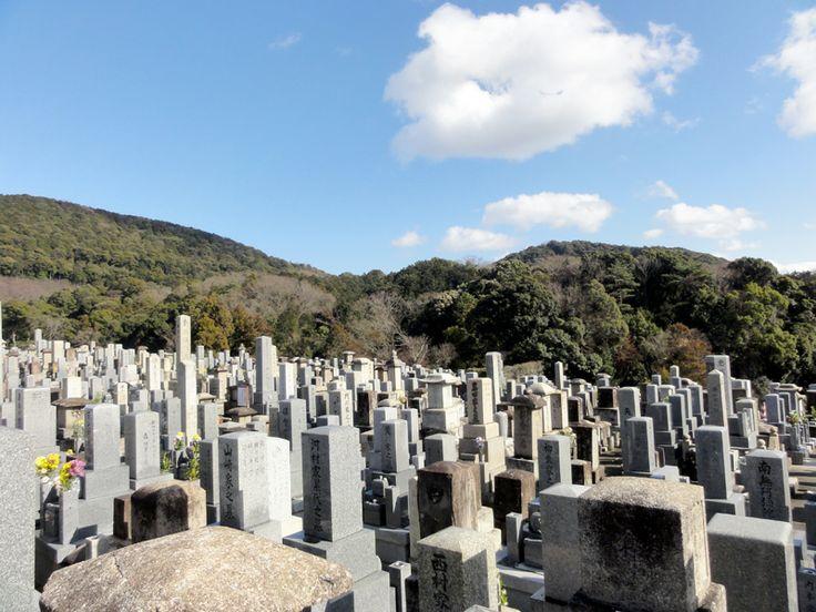 Friedhof in der Nähe vom Kiyomizu-dera Tempel in Kyōto, Japan