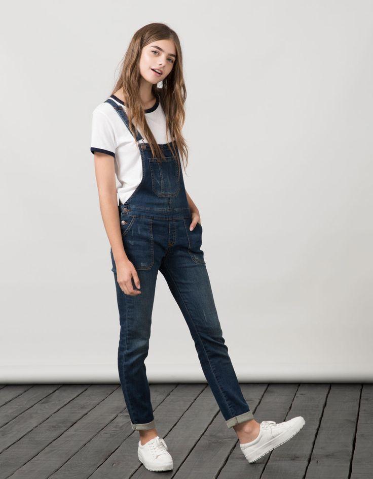 BSK denim dungarees - Dresses & Jumpsuits - Bershka Belgium