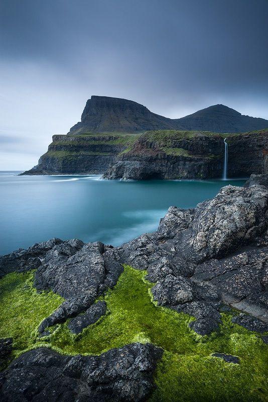 Gásadalur, Vágar, Faroe Islands, Denmark.