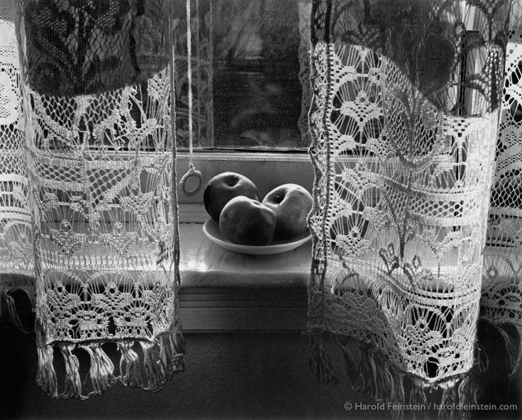 Harold Feinstein.  My Mother's Curtains, 1946.  Harold Feinstein was an American photographer who was largely known for his early street photography.  He later covered a vast array of different genres throughout his extensive photographic career.  His collection 'Still Life and Nature' focuses on the simplicity of everyday life.  This image uses natural light and traditional darkroom techniques to convey a sense of place - in this case his mother's home.
