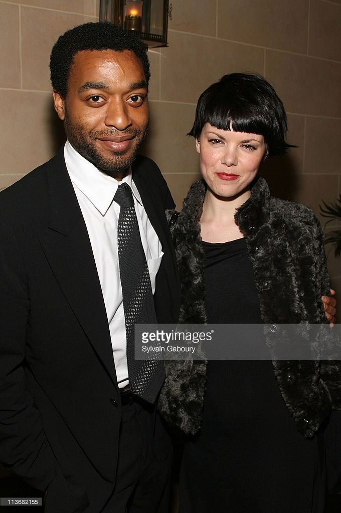 Chiwetel Ejiofor and Sarah-Jane Potts during Miramax Films 'Kinky Boots' New York Premiere - After Party at Fizz in New York City, New York, United States.