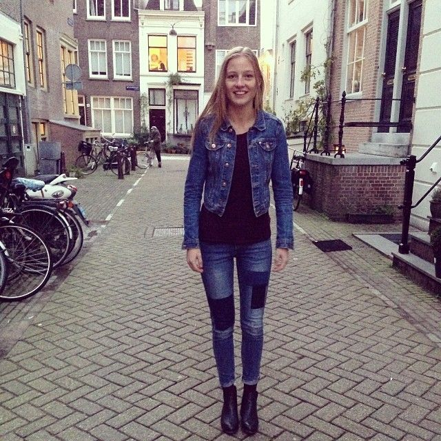 Pretending it's not cold with new #hmjeans! #newjeans #fashion #cold #fallfashion #amsterdam