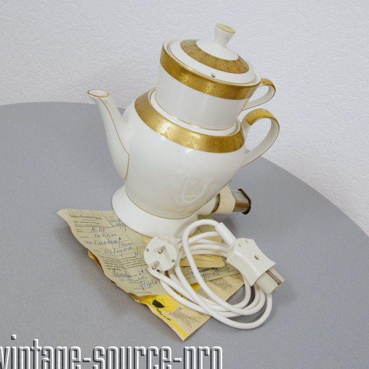 Neuerer Porzellan Aromator Kaffemaschine Samowar 10 Tassen Bavaria 50er Jahre