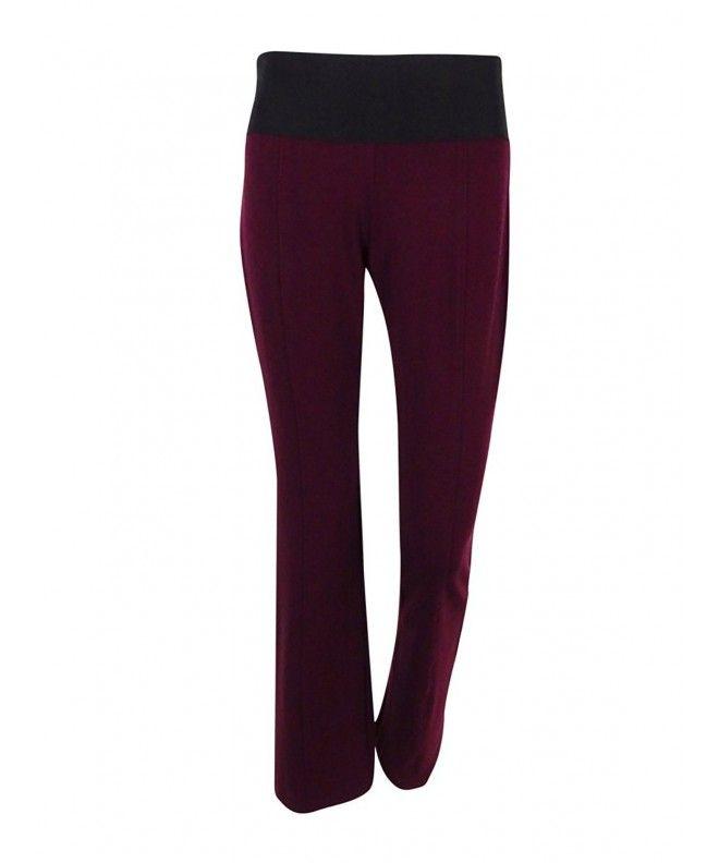 eaab7c78b4c2 Womens Flat Front Wide Waistband Bootcut Pants - Red - CY12MWXK3B9,Women's  Clothing, Pants #Pants #fashion #style #Pants