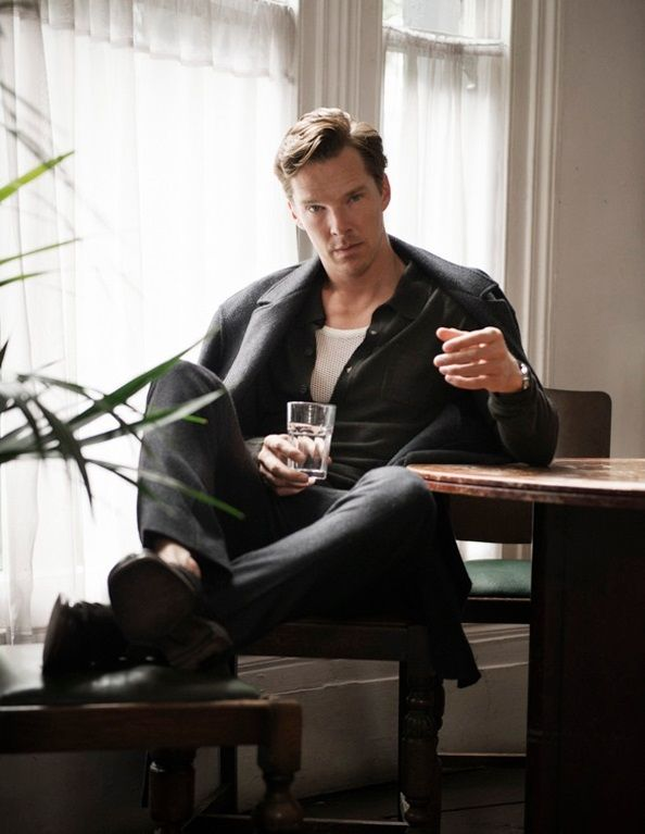 Oh yes, def time for a drink! {Benedict Cumberbatch for Flaunt Magazine by David Goldman}