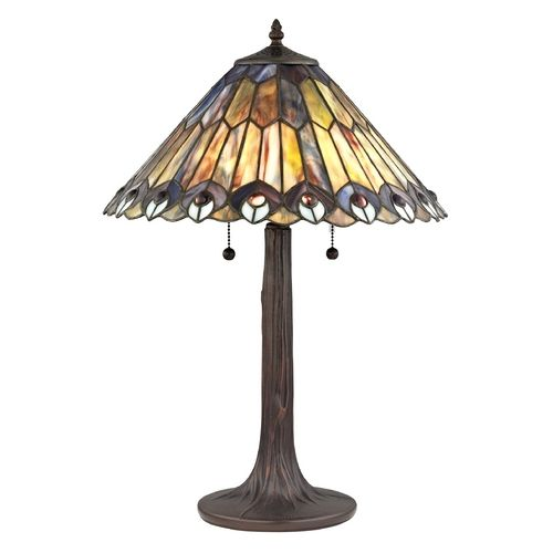 bronze tiffany pull chain table lamp 1641 abd destination lighting. Black Bedroom Furniture Sets. Home Design Ideas